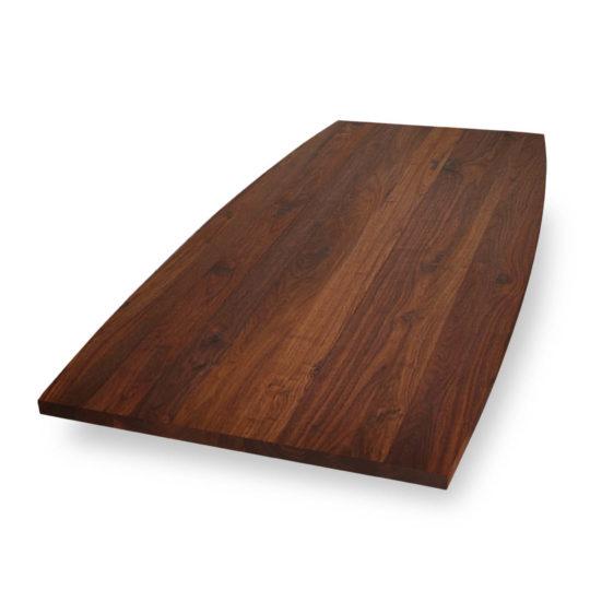 Tischplatte Bootsform Nussbaum Ast von MBzwo