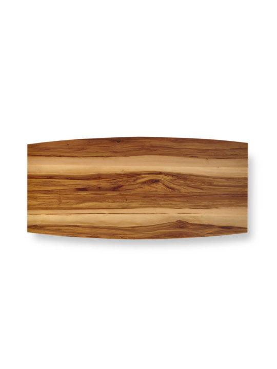 Tischplatte Bootsform Nussbaum Satin von MBzwo