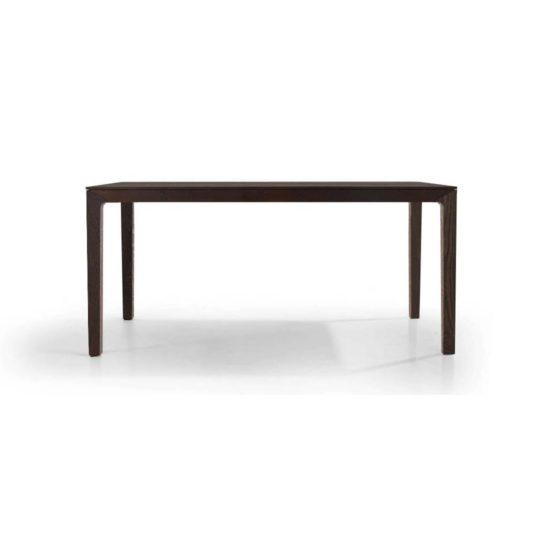 Holztisch filigran nach Maß NBLOGG in Asteiche schwarz geräuchert