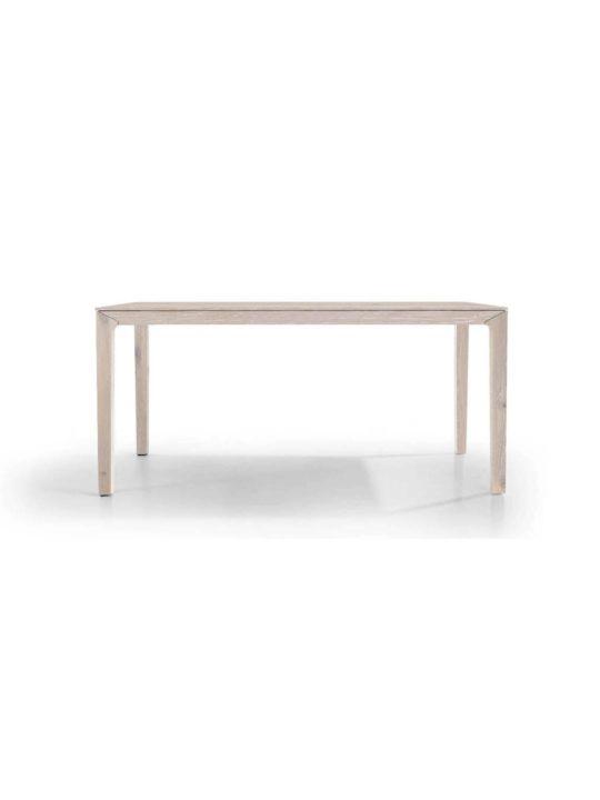 Holztisch filigran nach Maß NBLOGG in Asteiche weiß geölt