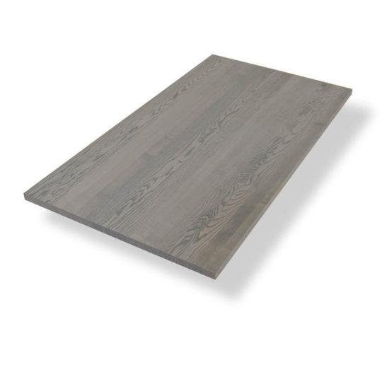 Tischplatte auf Maß in Esche grau geölt
