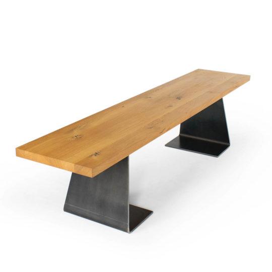 Design Sitzbank Holz Zsteel Frontansicht
